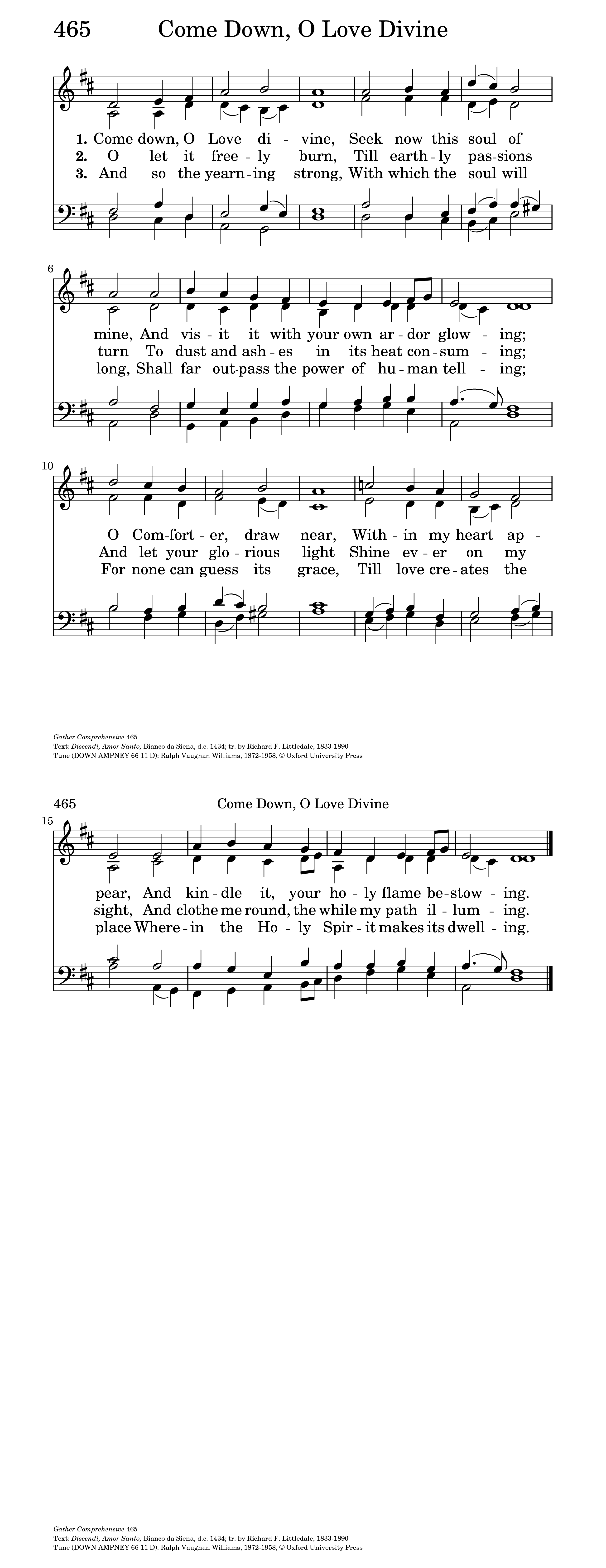 Come Down, O Love Divine | Hymnary org