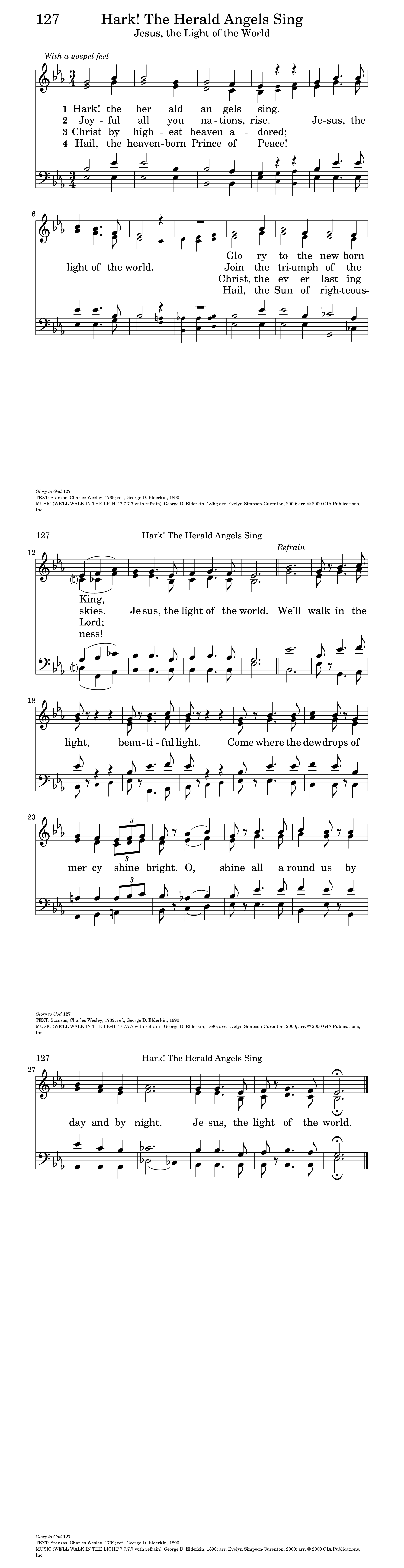 Jesus the light of the world hymnary general settings hexwebz Gallery