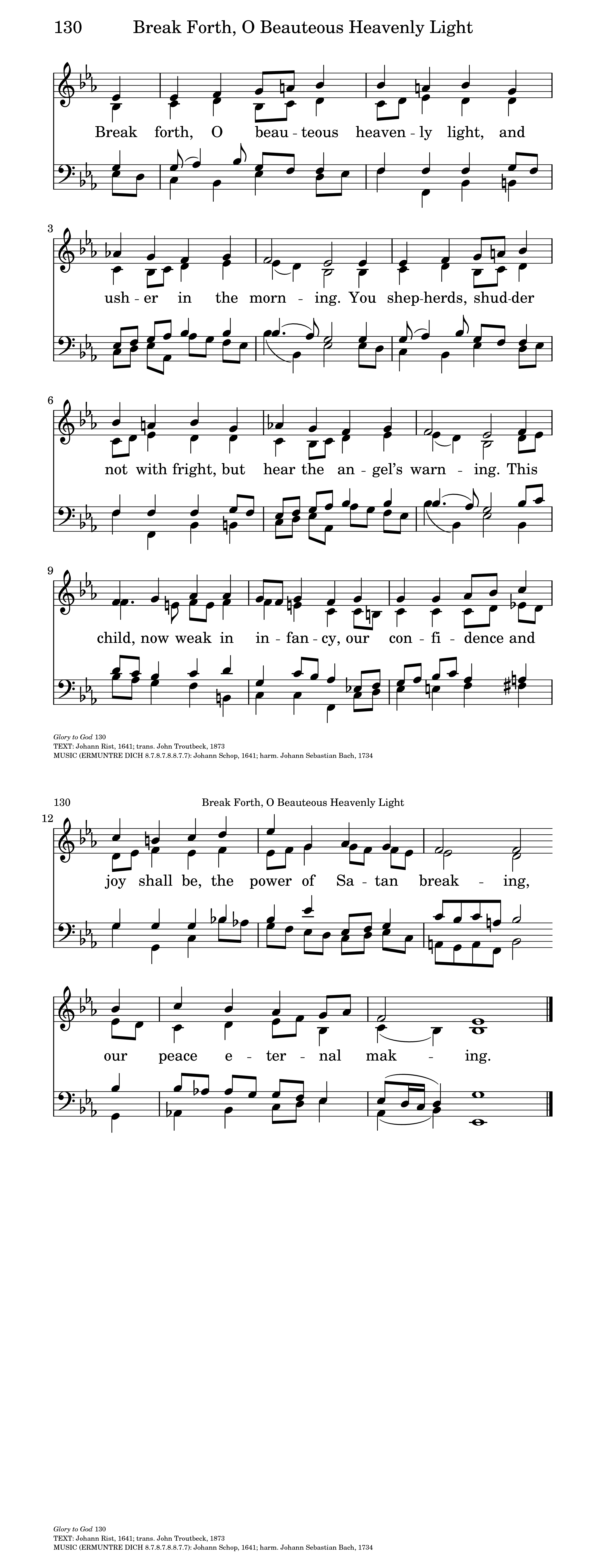 Break Forth, O Beauteous Heavenly Light | Hymnary org