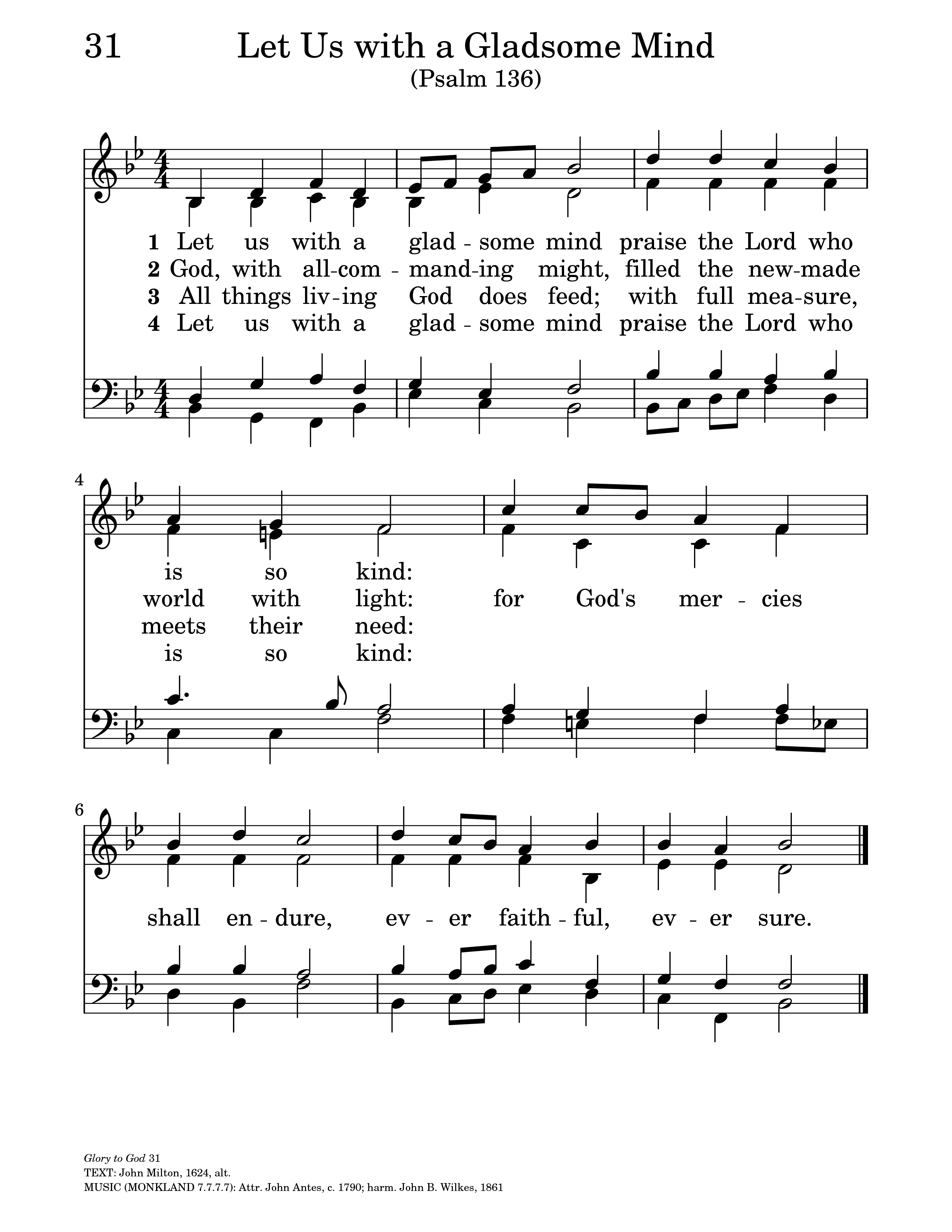 Let us with gladsome mind hymnary general settings hexwebz Choice Image