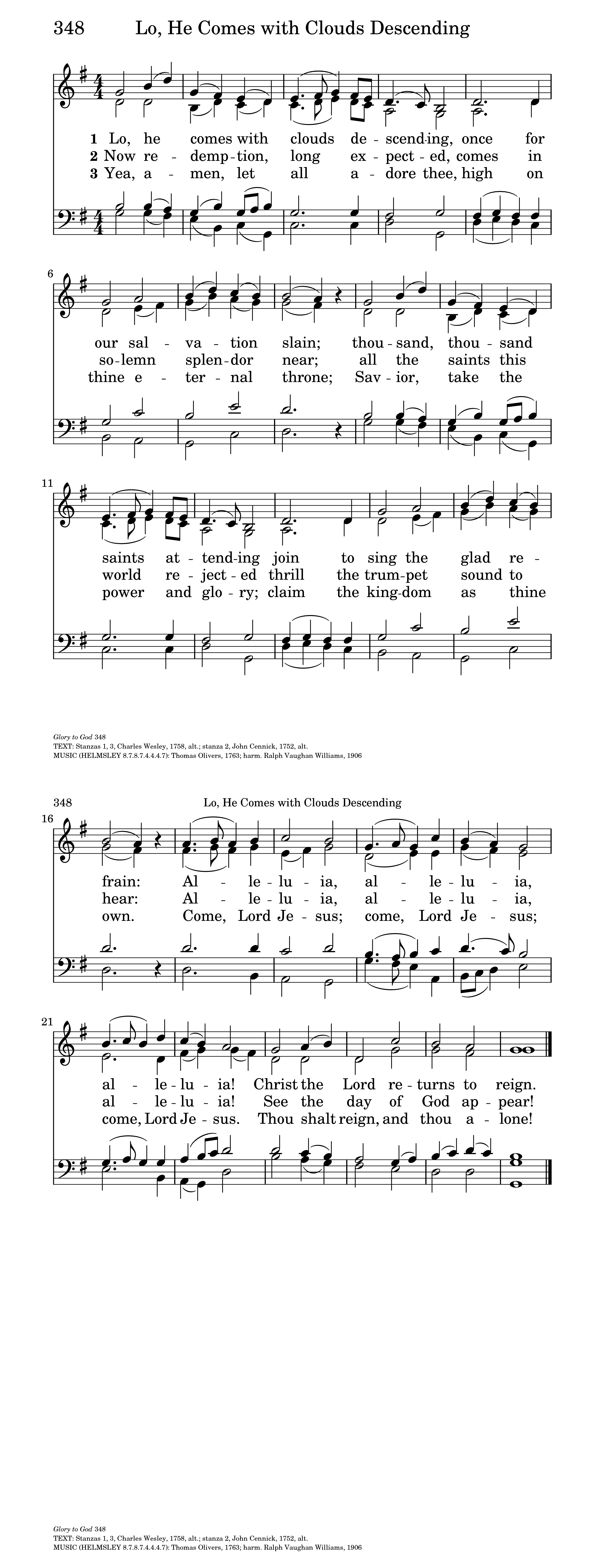 Lo! He Comes with Clouds Descending | Hymnary org