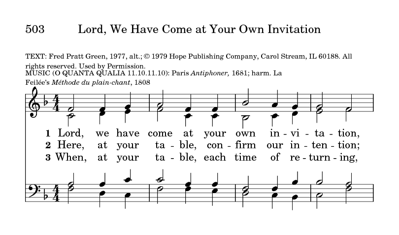 Lord we have come at your own invitation hymnary general settings stopboris Gallery