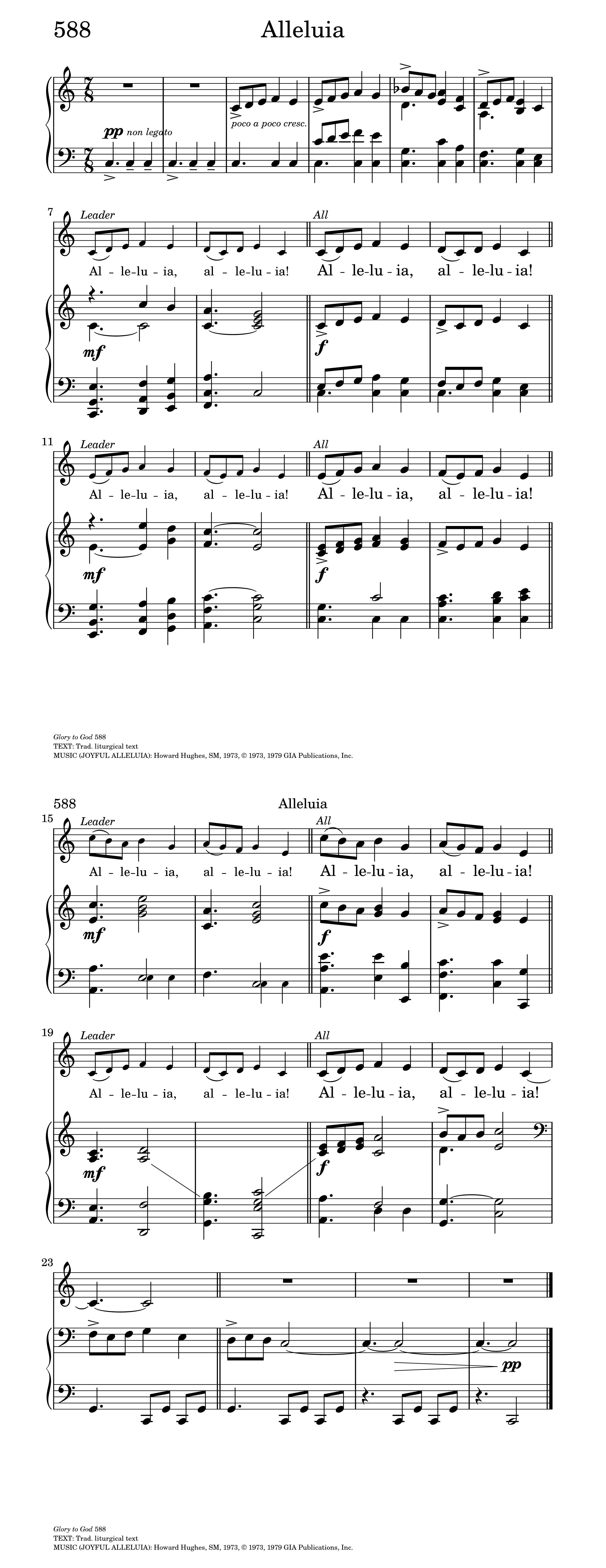 Alleluia | Hymnary org