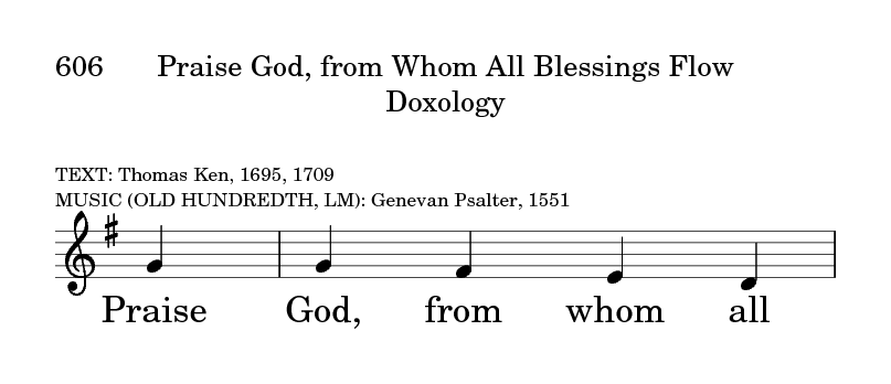 Glory to God: the Presbyterian Hymnal 606  Praise God, from whom all