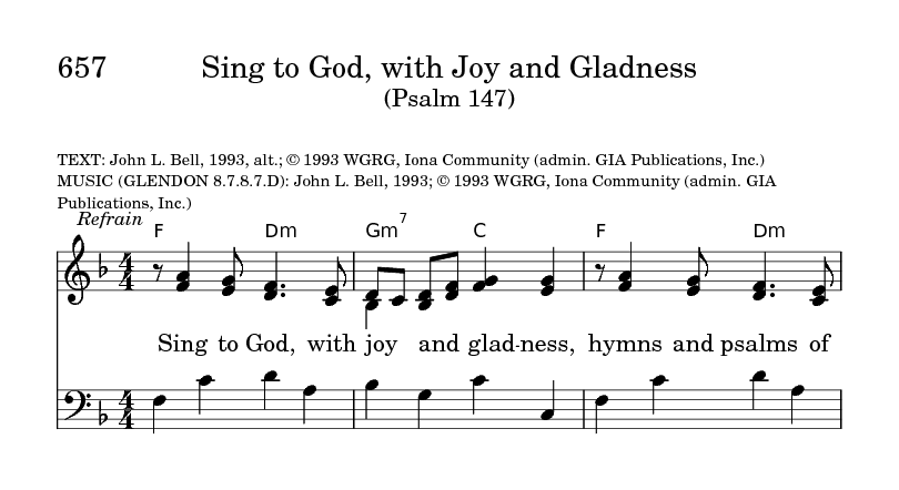 Sing To God With Joy And Gladness Hymnary Org