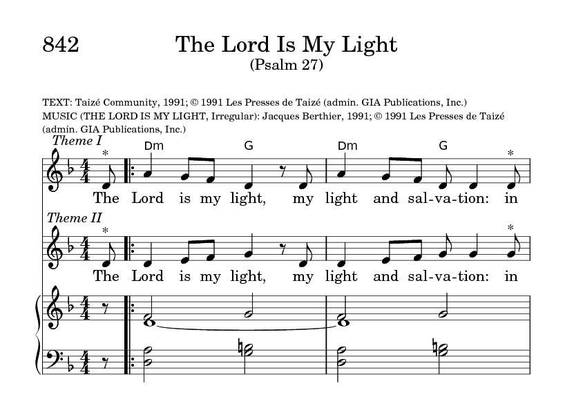 The Lord Is My Light | Hymnary org