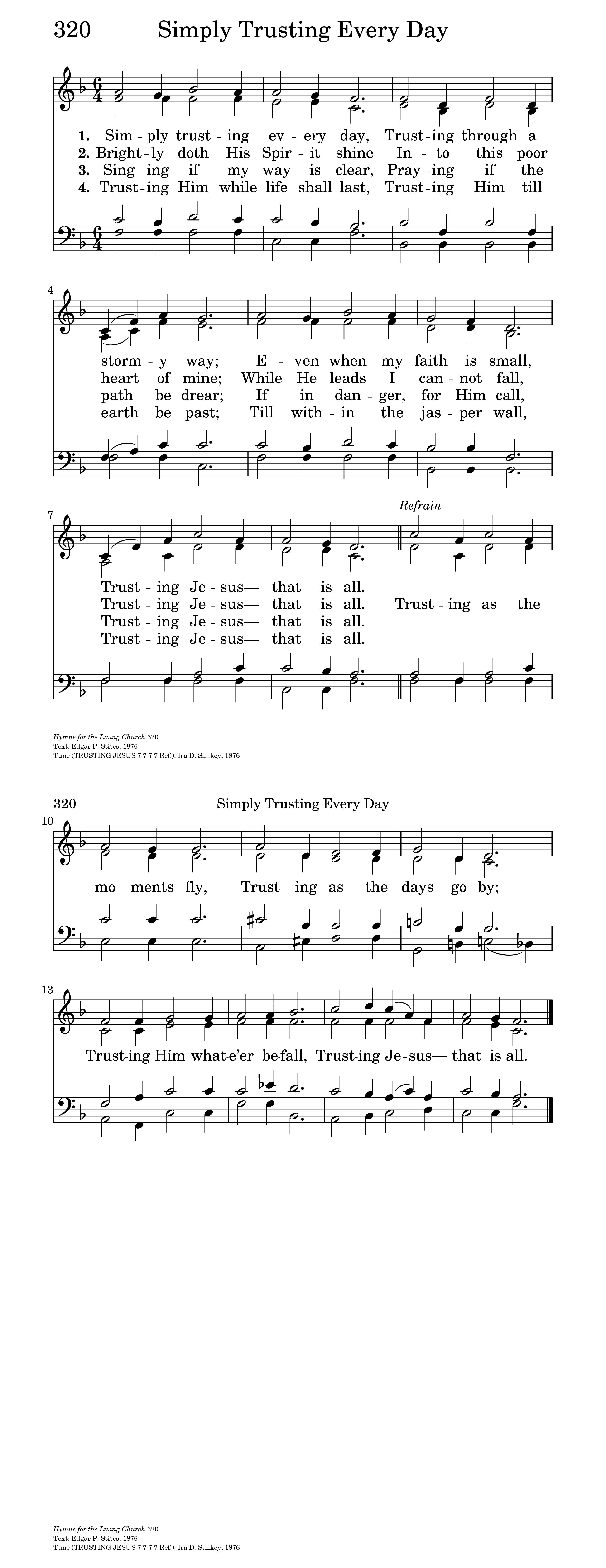 TRUSTING JESUS | Hymnary org