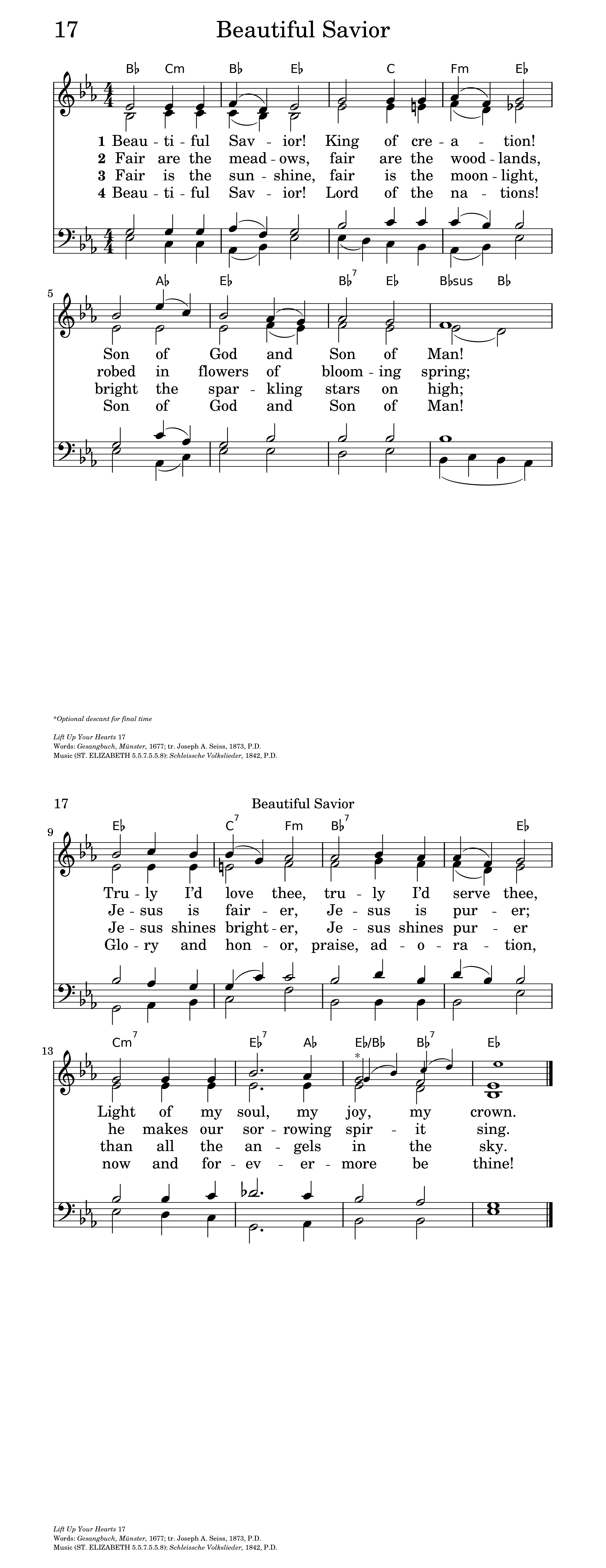 Beautiful savior hymnary general settings hexwebz Image collections