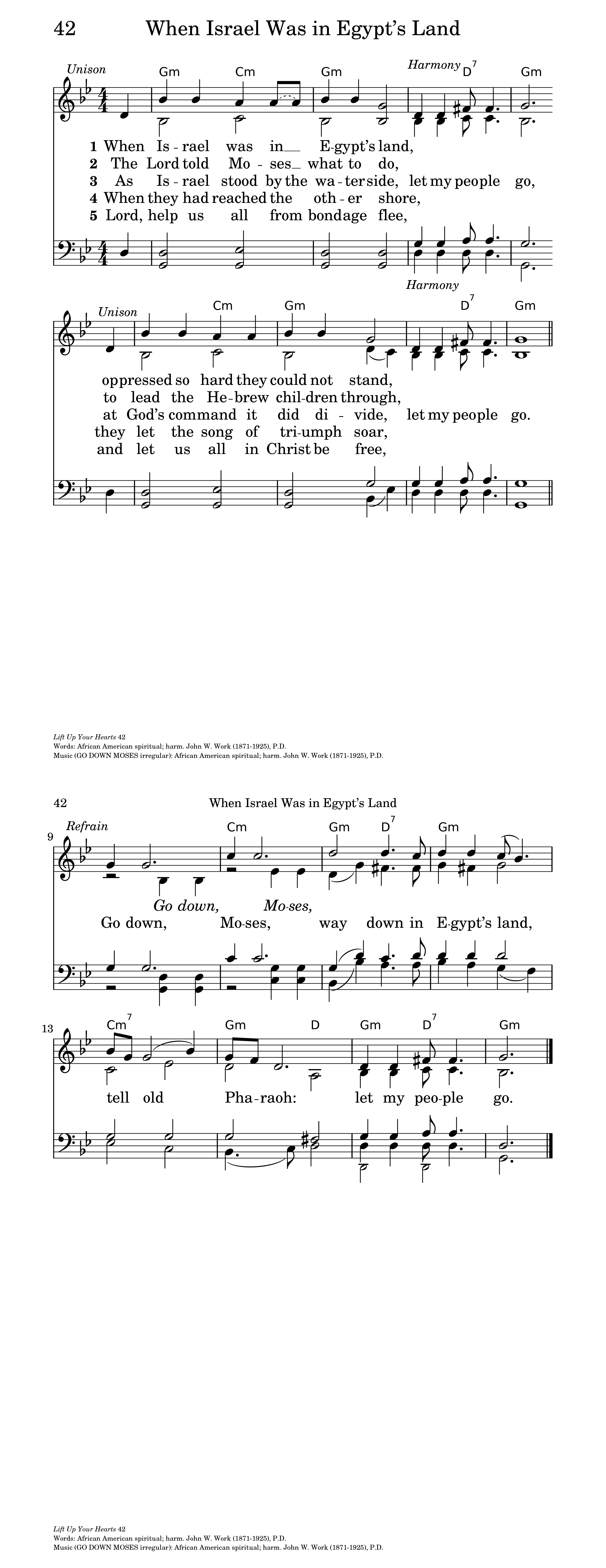 Go Down, Moses | Hymnary org