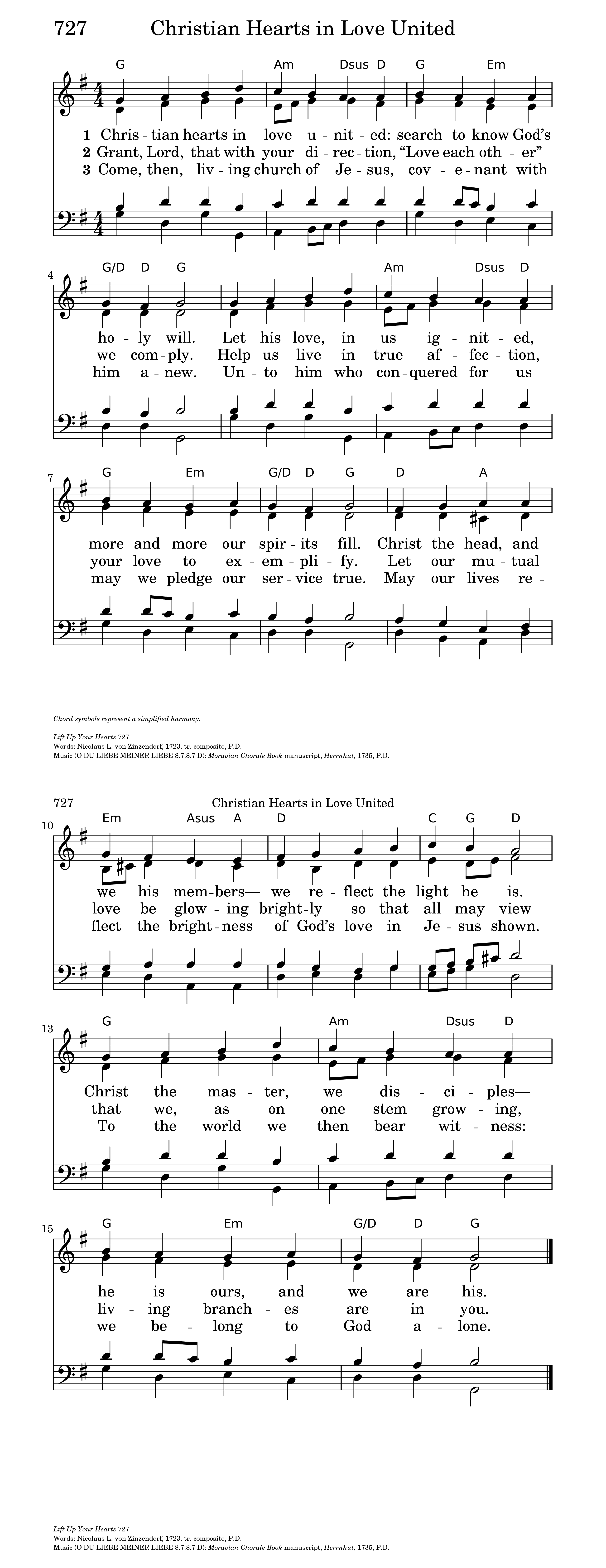 Christian hearts in love united hymnary general settings hexwebz Choice Image