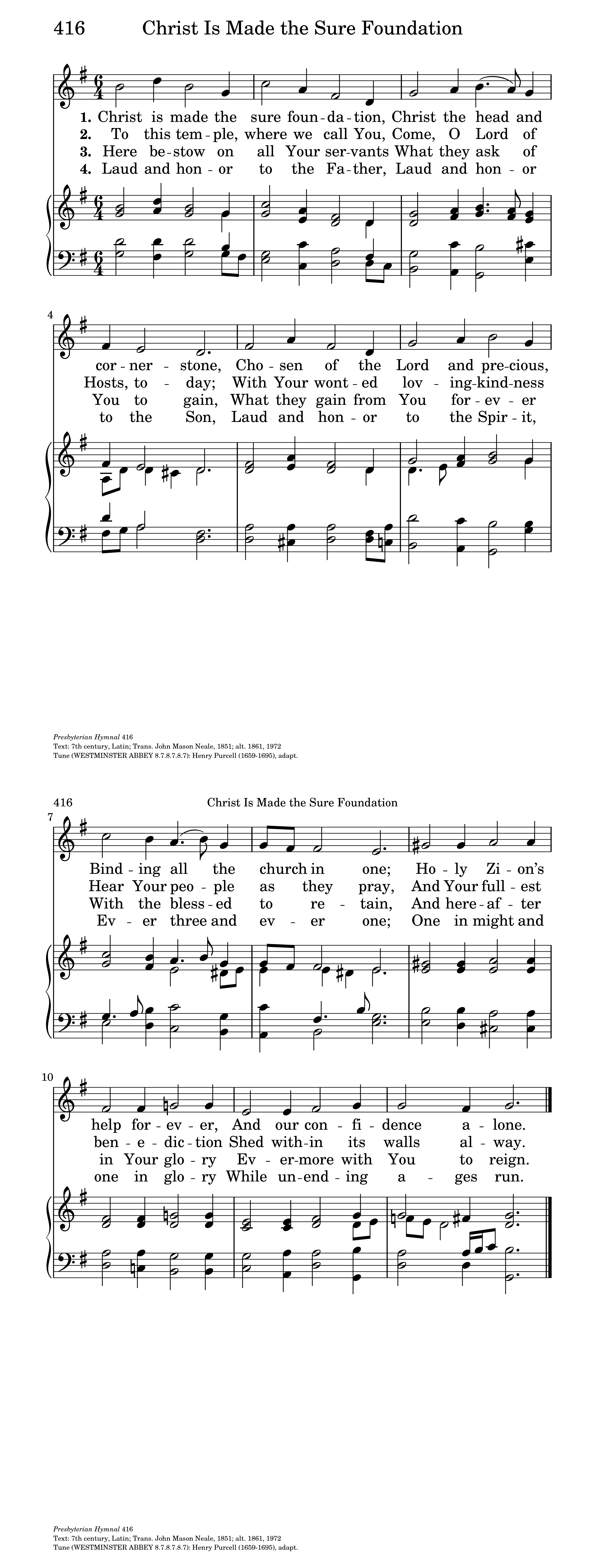 christ is made the sure foundation hymnary org