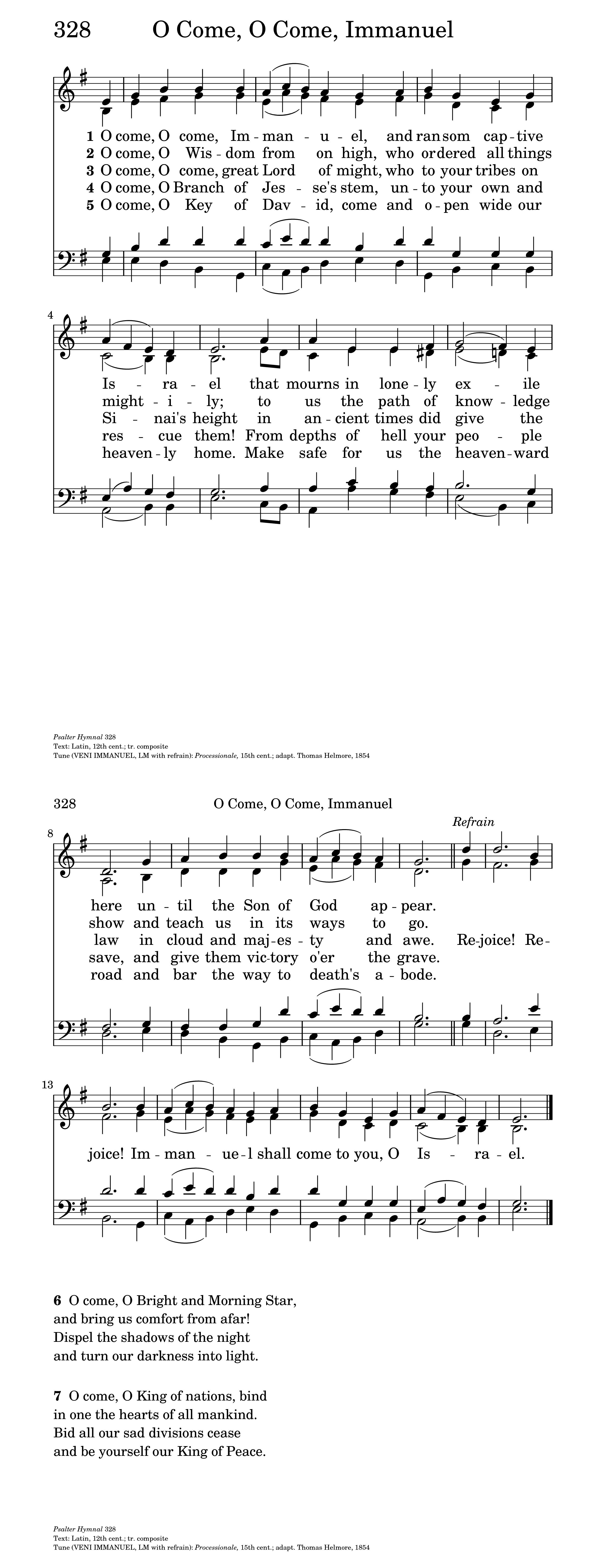 O e O e Emmanuel Hymnary