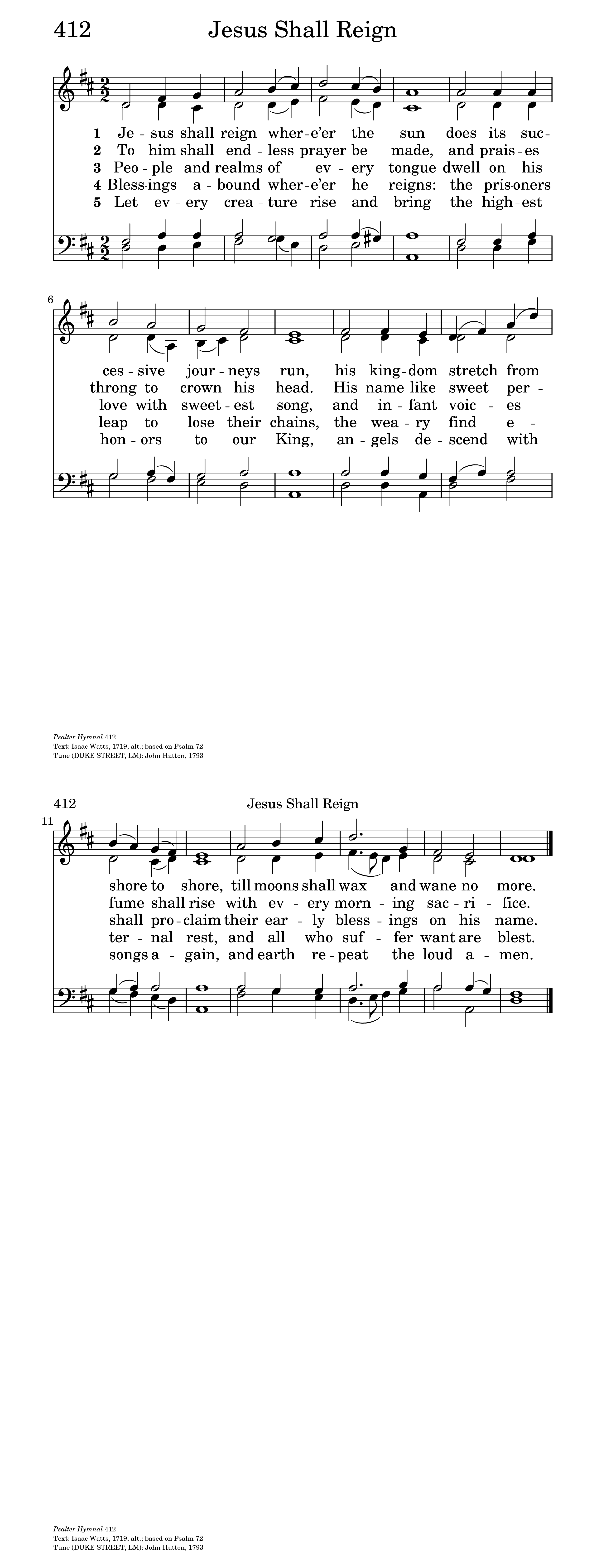 Jesus shall reign whereer the sun hymnary general settings hexwebz Images