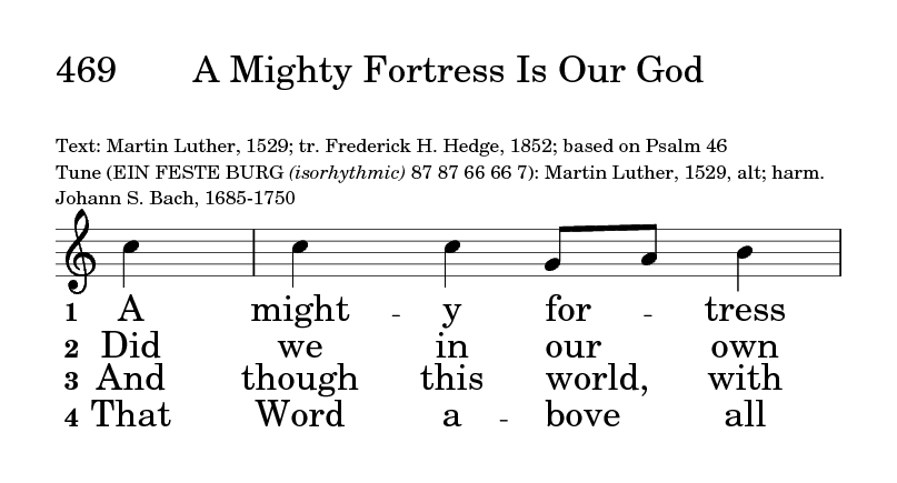 Psalter Hymnal (Gray) 469  A mighty fortress is our God | Hymnary org