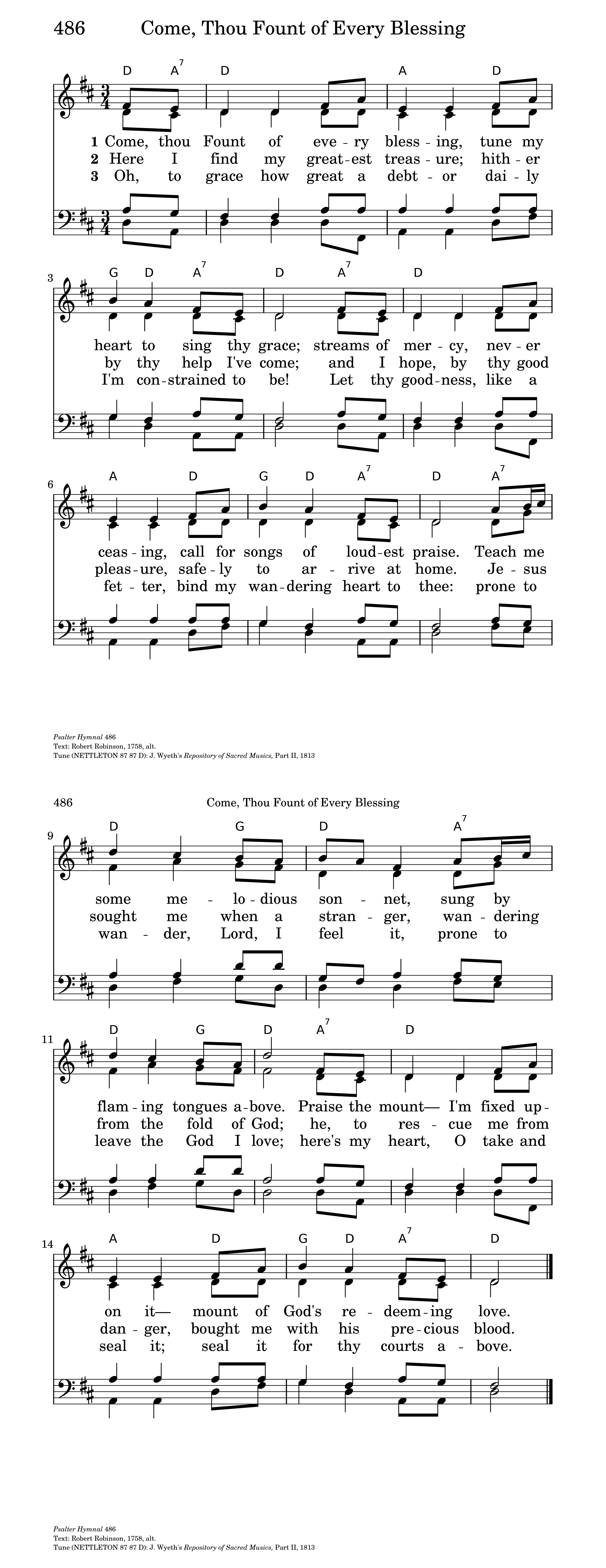 Come thou fount of every blessing hymnary general settings hexwebz Gallery