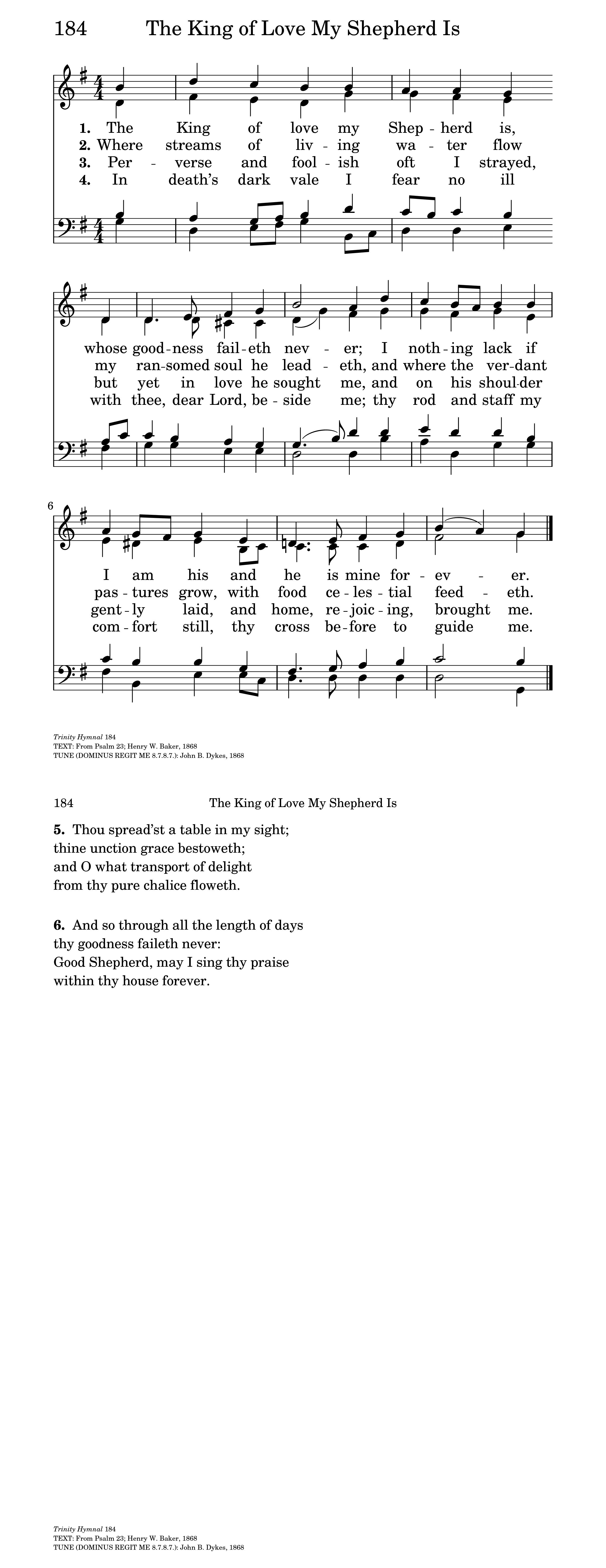 The king of love my shepherd is hymnary general settings hexwebz Choice Image