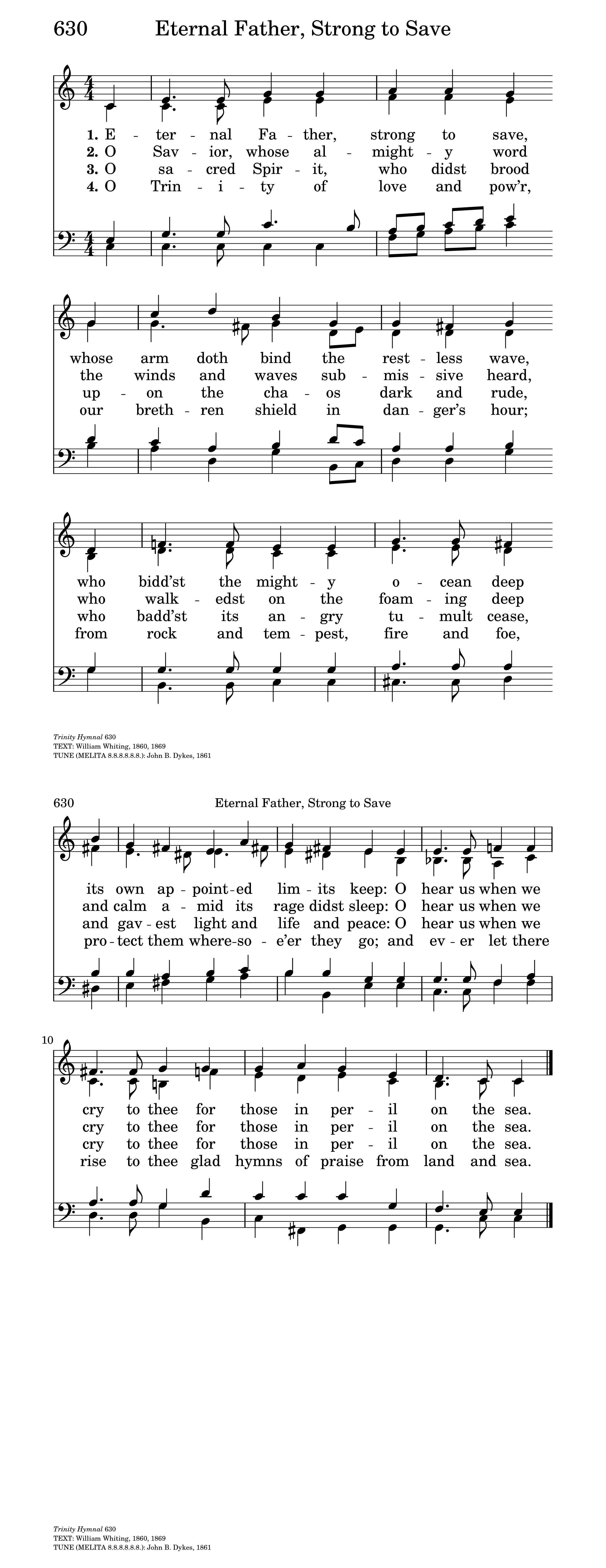 eternal father strong to save hymnary org