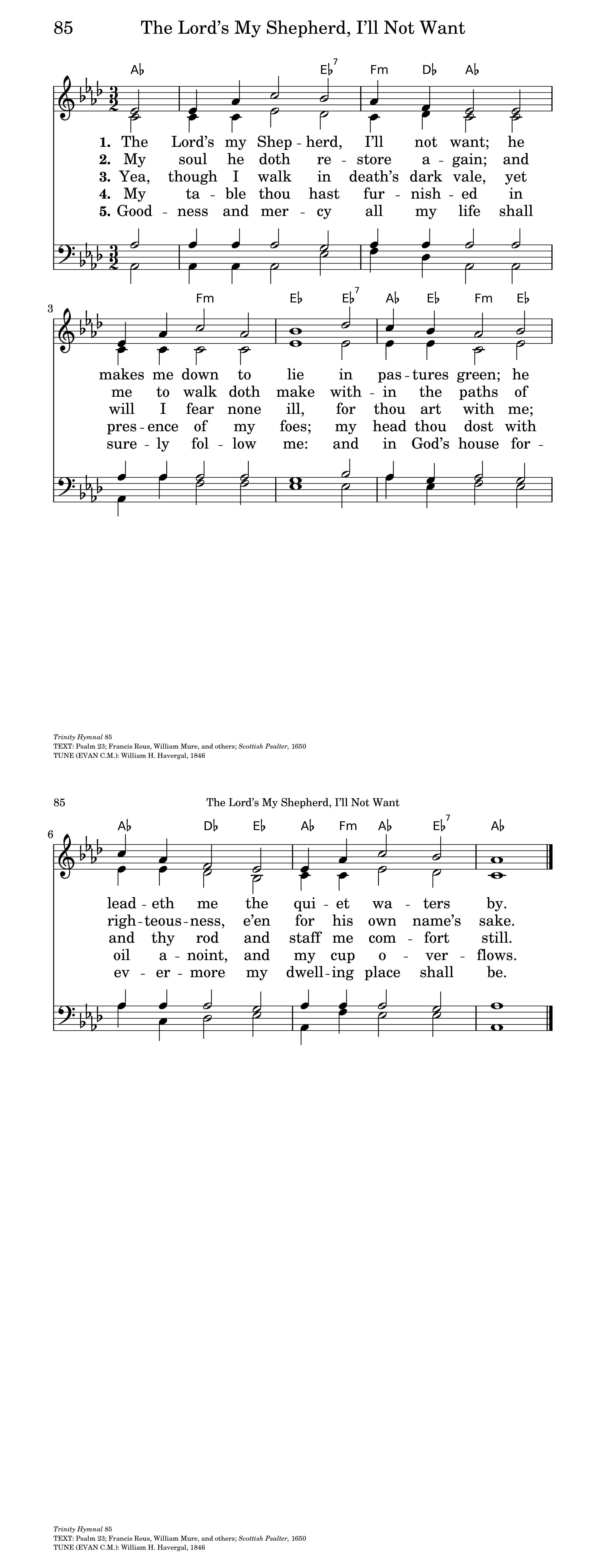 the lord u0027s my shepherd hymnary org