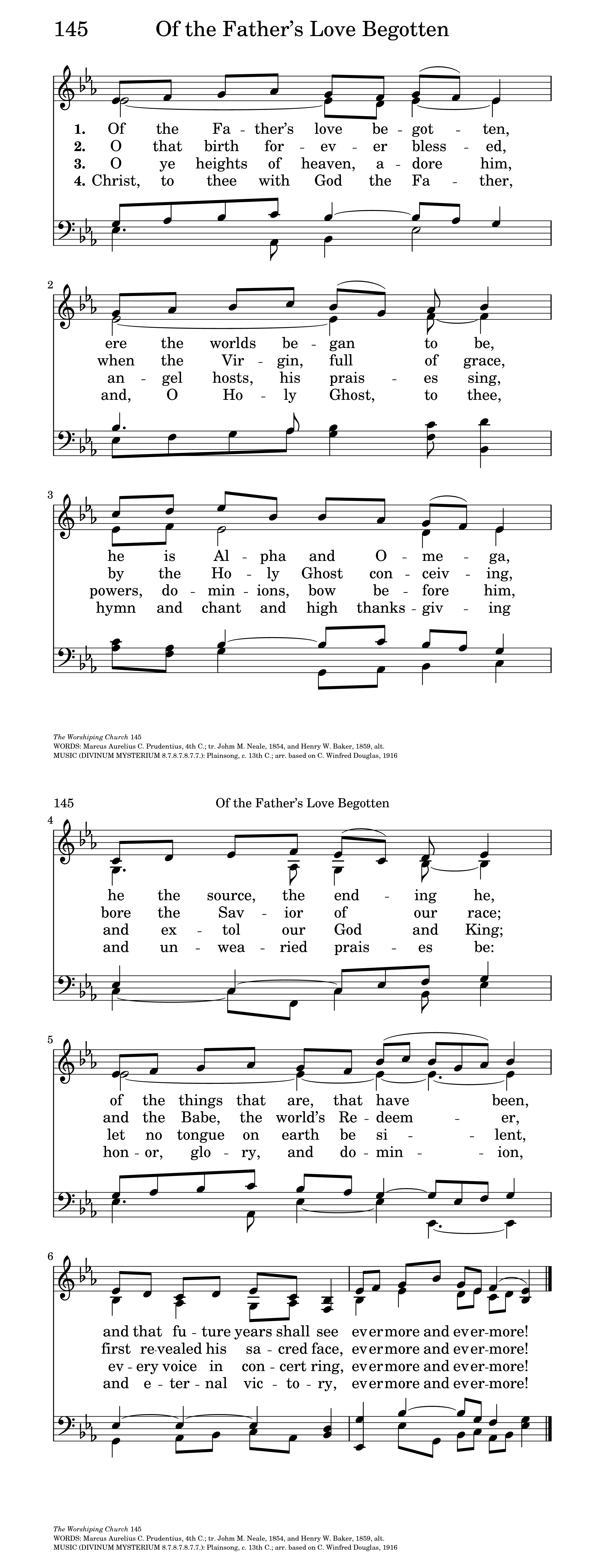 of the father u0027s love begotten hymnary org
