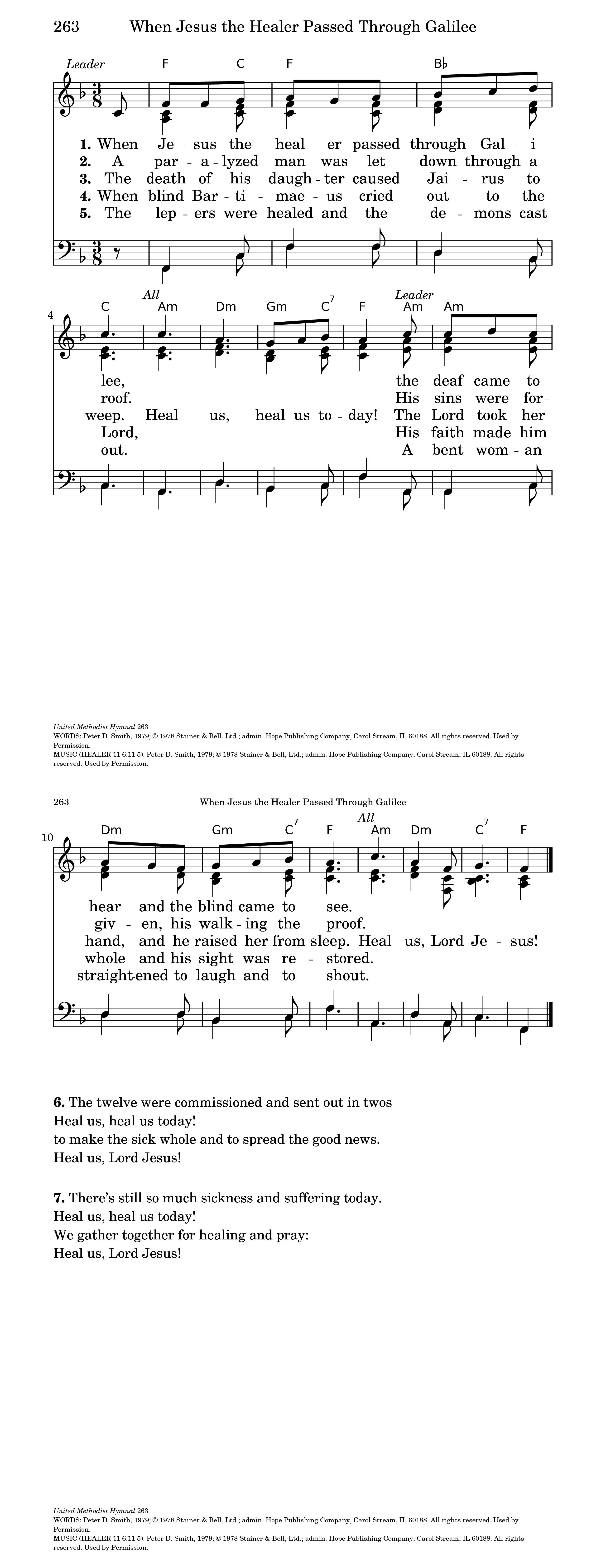 When Jesus The Healer Hymnary