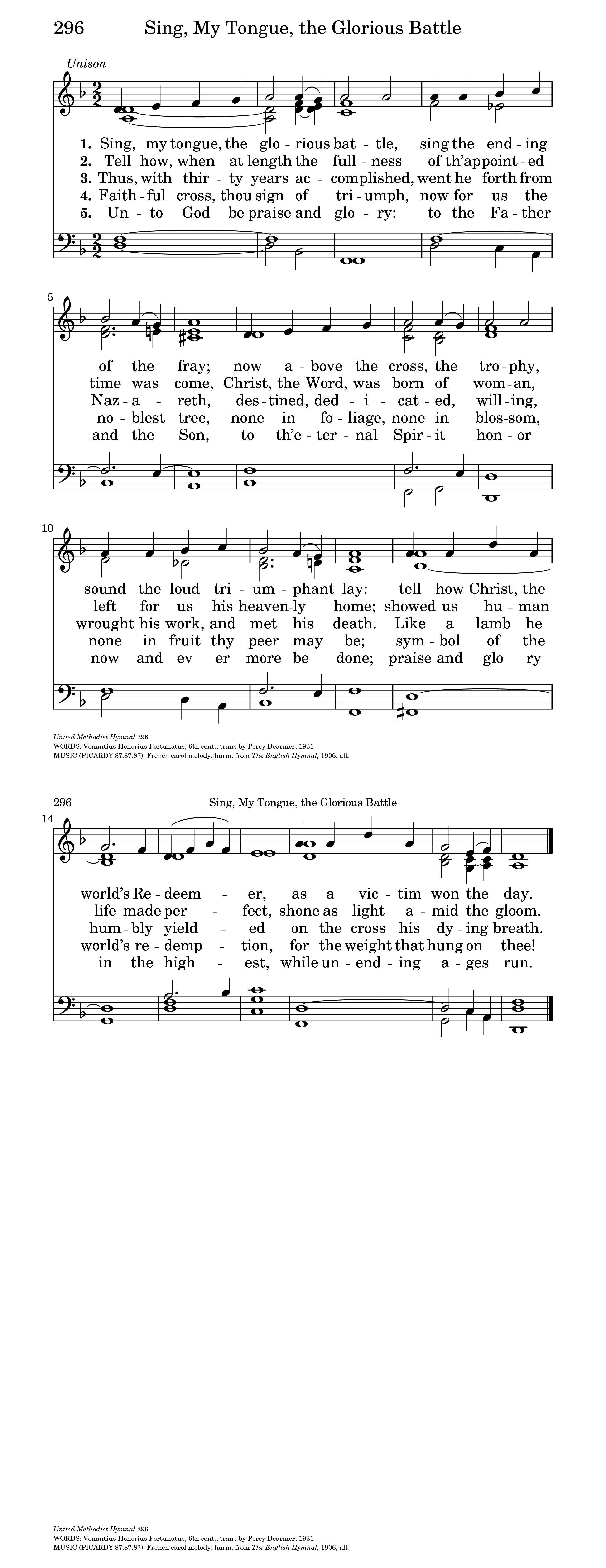 Sing, my tongue, the glorious battle, Sing the ending of the fray (Dearmer)  | Hymnary.org