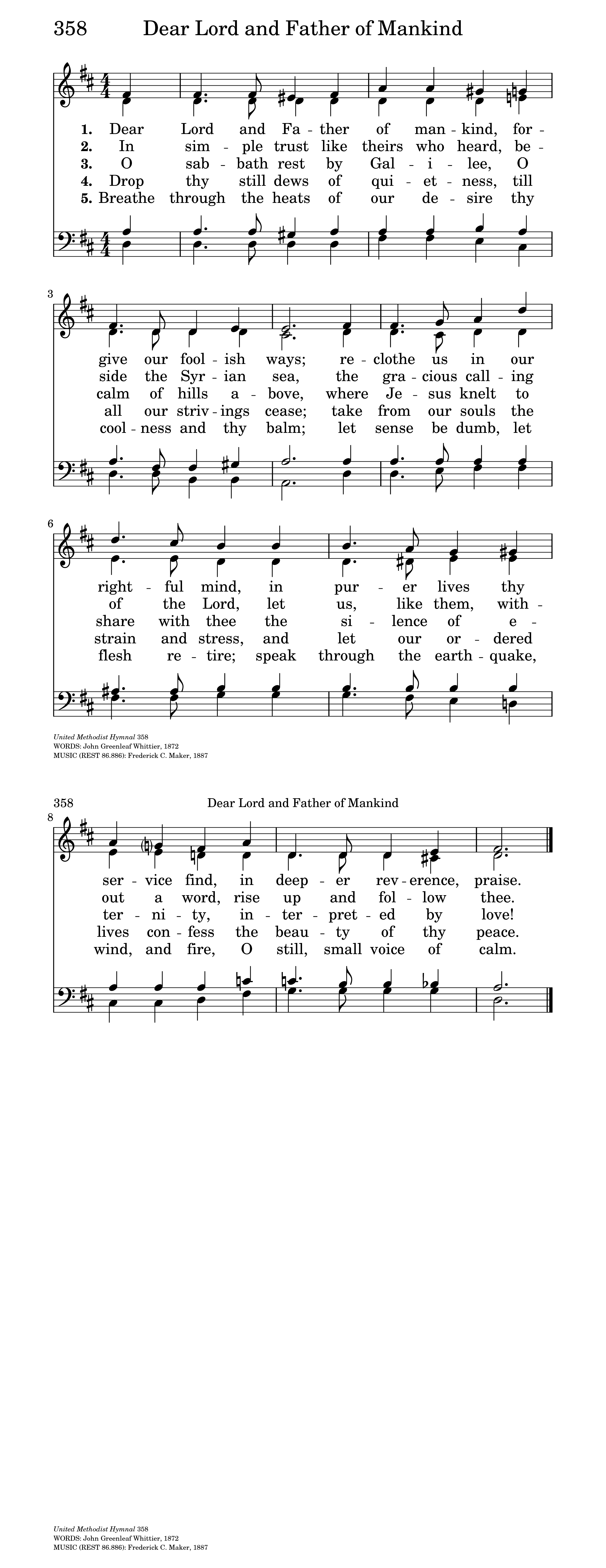 dear lord and father of mankind hymnary org