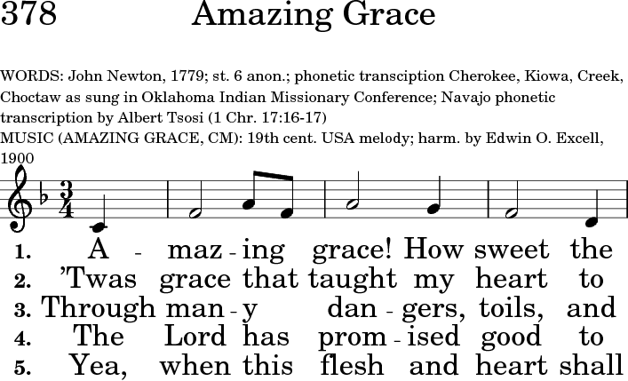 photograph relating to Amazing Grace Lyrics Printable identified as The United Methodist Hymnal 378. Remarkable grace! How lovable