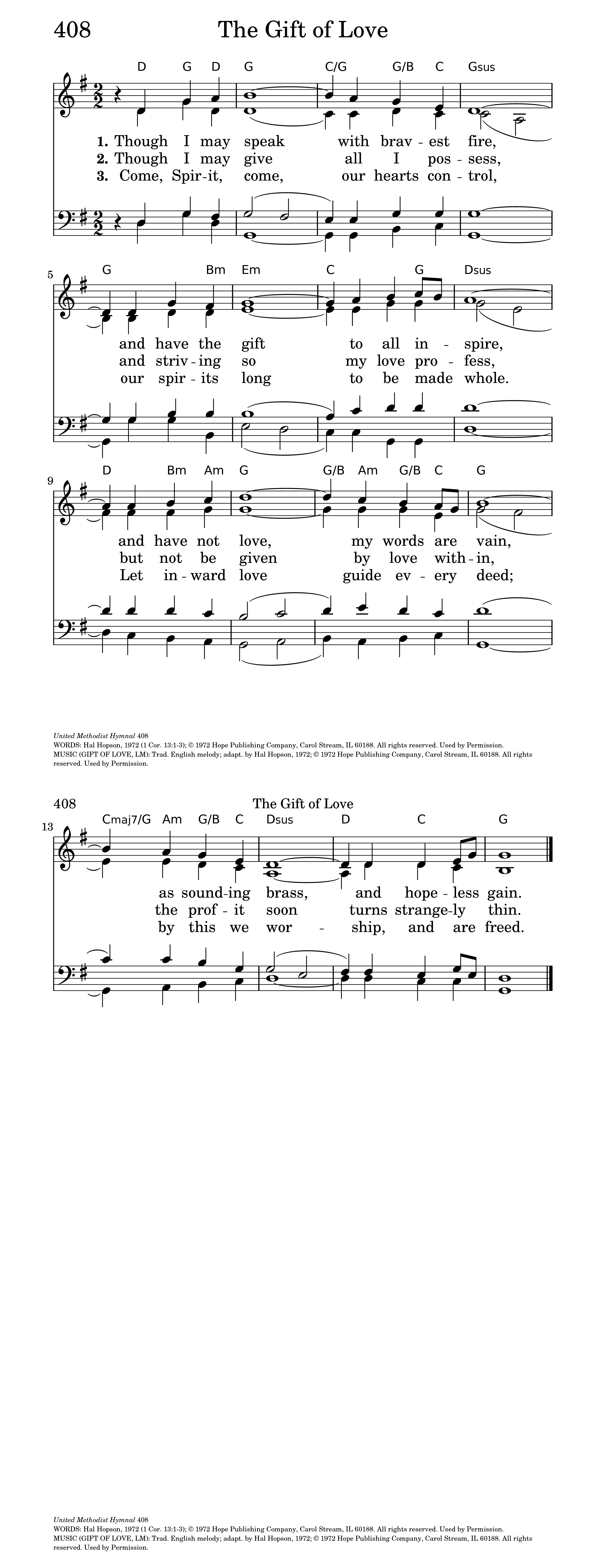 The gift of love hymnary general settings hexwebz Image collections
