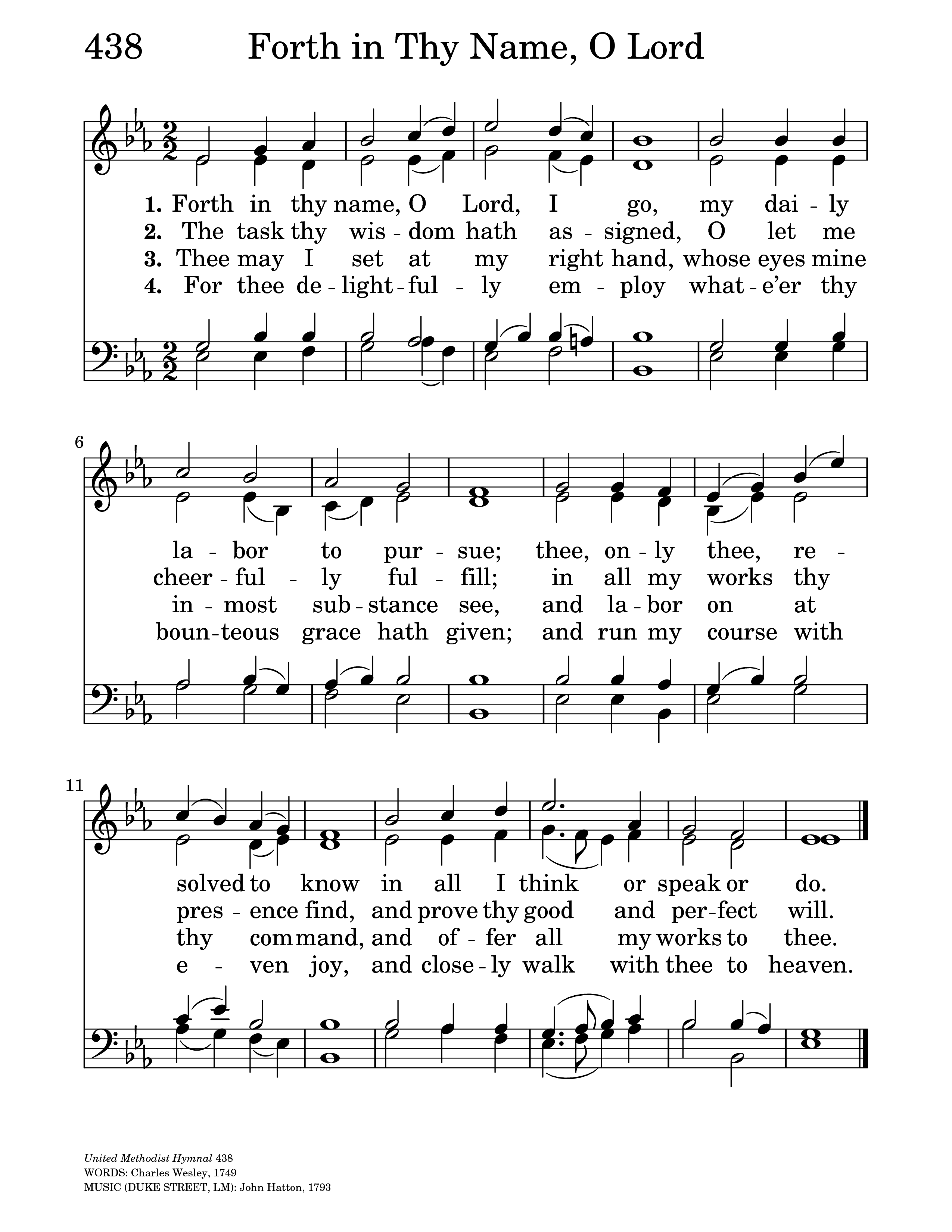 Forth in Thy Name, O Lord, I Go | Hymnary org