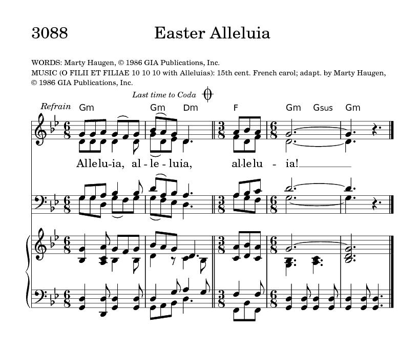 Easter Alleluia   Hymnary.org