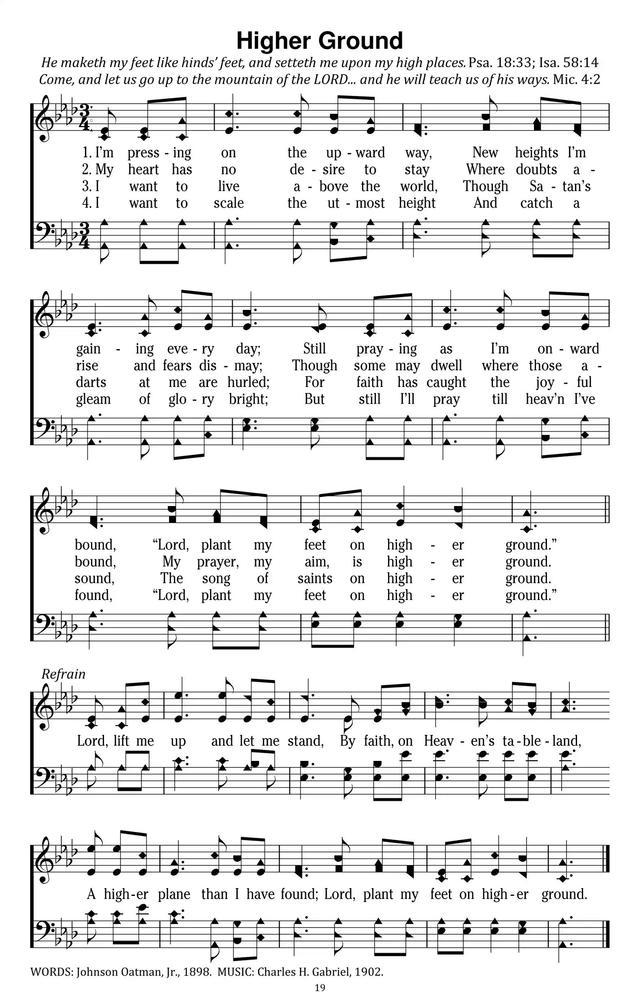 Lyric go tell it on the mountain hymn lyrics : I'm pressing on the upward way | Hymnary.org