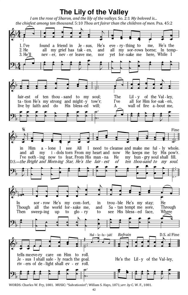 The Lily of the Valley | Hymnary.org