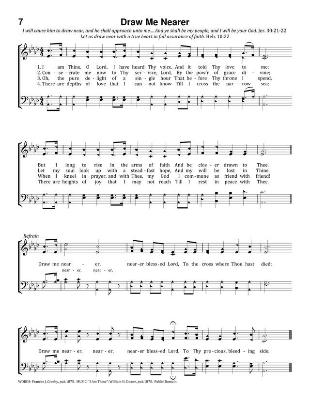 Lyric lyrics to bless the lord oh my soul : Draw Me Nearer | Hymnary.org