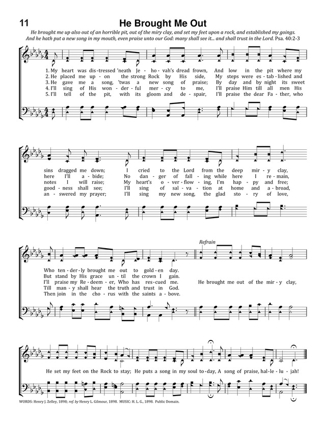 Lyric glad i got jesus down in my heart lyrics : He Brought Me Out | Hymnary.org