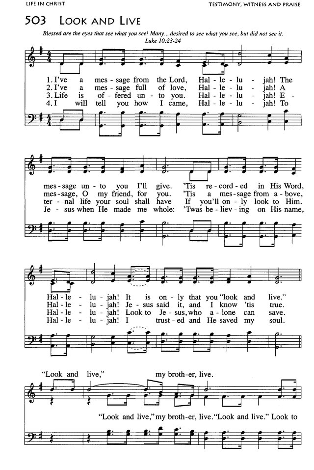 Look And Live Hymnary