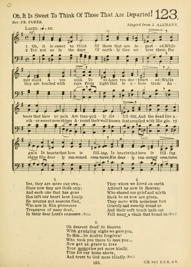 American Catholic Hymnal: an extensive collection of hymns, Latin chants, and sacred songs for church, school, and home, including Gregorian masses, vesper psalms, litanies... page 162