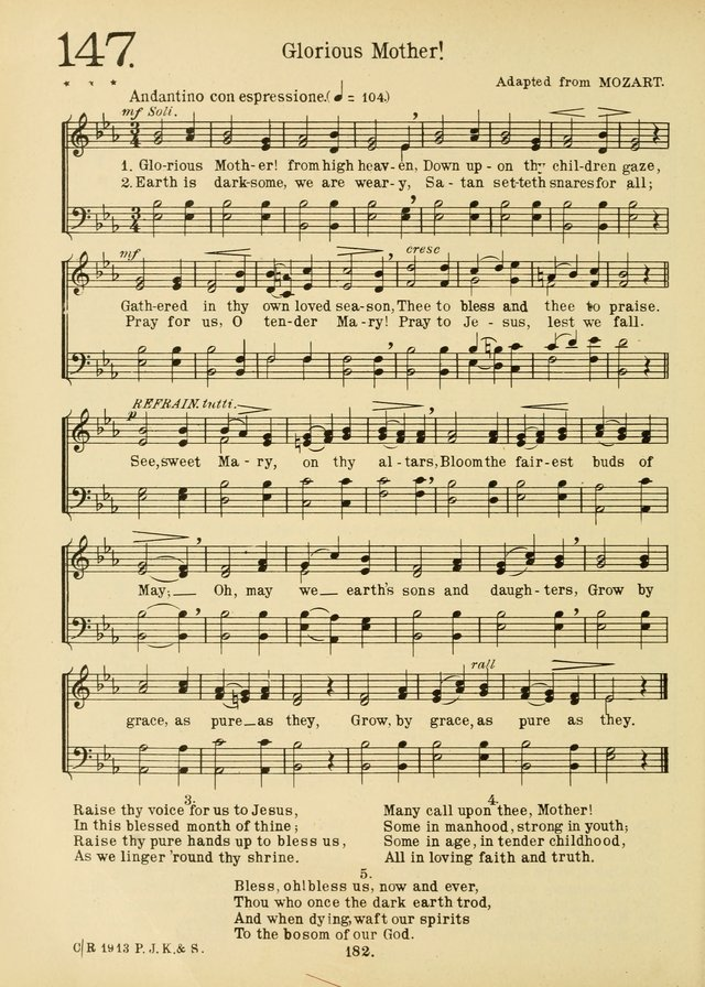 American Catholic Hymnal: an extensive collection of hymns, Latin chants, and sacred songs for church, school, and home, including Gregorian masses, vesper psalms, litanies... page 189