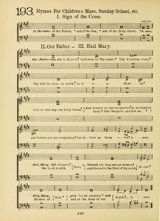 American Catholic Hymnal: an extensive collection of hymns, Latin