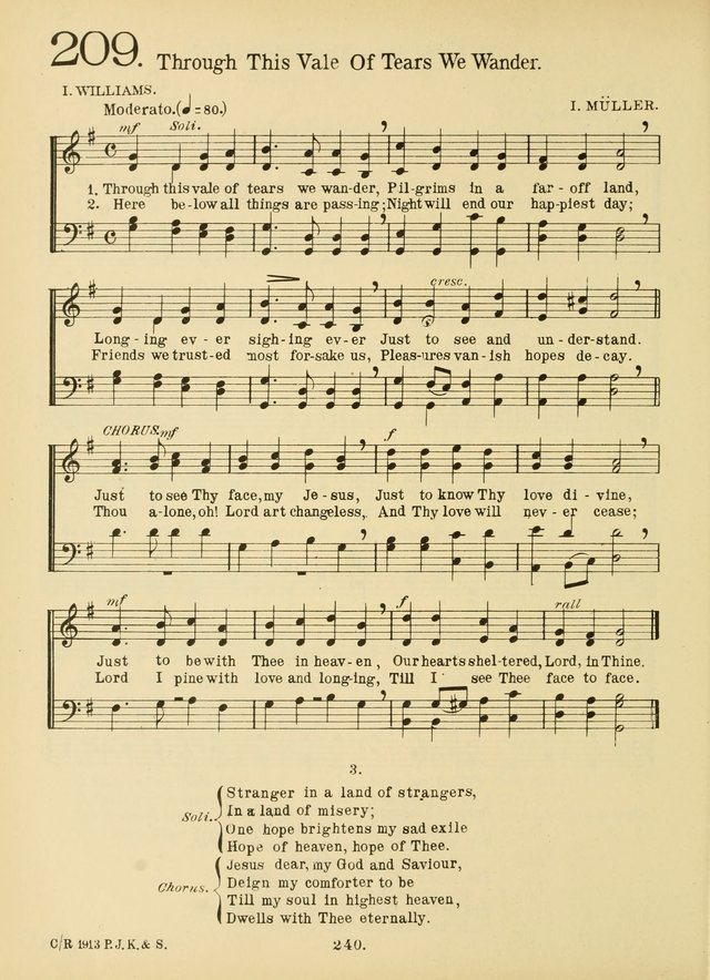 American Catholic Hymnal: an extensive collection of hymns, Latin chants, and sacred songs for church, school, and home, including Gregorian masses, vesper psalms, litanies... page 247