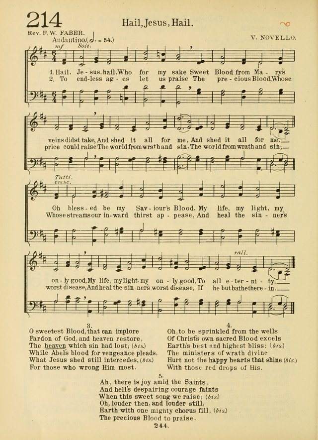 American Catholic Hymnal: an extensive collection of hymns, Latin chants, and sacred songs for church, school, and home, including Gregorian masses, vesper psalms, litanies... page 251