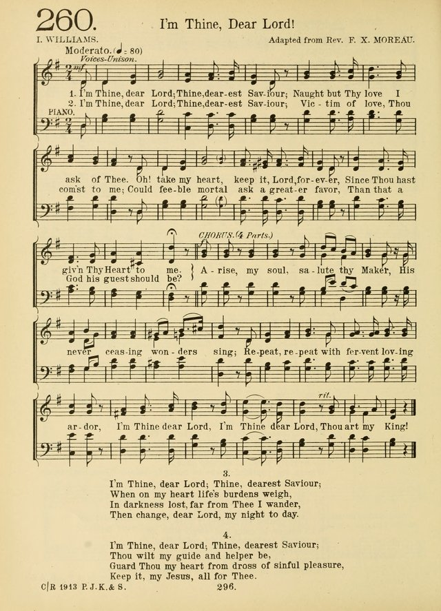American Catholic Hymnal: an extensive collection of hymns, Latin chants, and sacred songs for church, school, and home, including Gregorian masses, vesper psalms, litanies... page 303