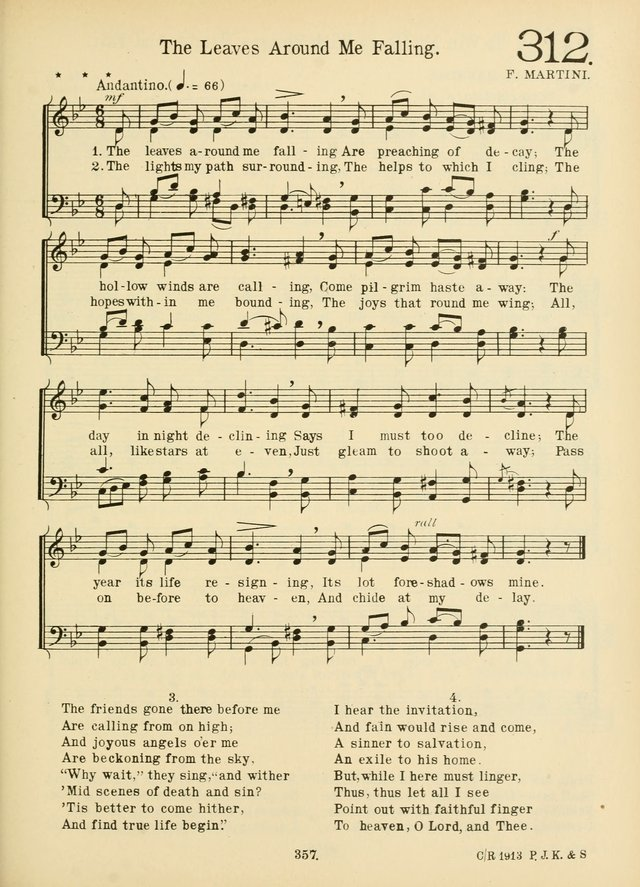 American Catholic Hymnal: an extensive collection of hymns, Latin chants, and sacred songs for church, school, and home, including Gregorian masses, vesper psalms, litanies... page 364