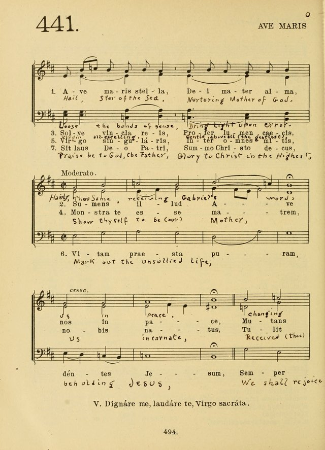 American Catholic Hymnal: an extensive collection of hymns, Latin chants, and sacred songs for church, school, and home, including Gregorian masses, vesper psalms, litanies... page 501