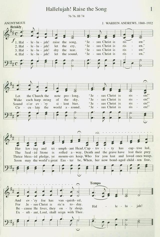 Hallelujah! Raise the Song - Hymnary.org