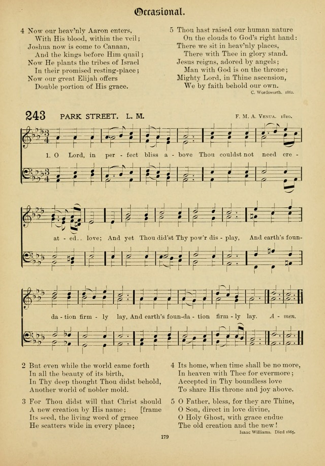 The Academic Hymnal page 180