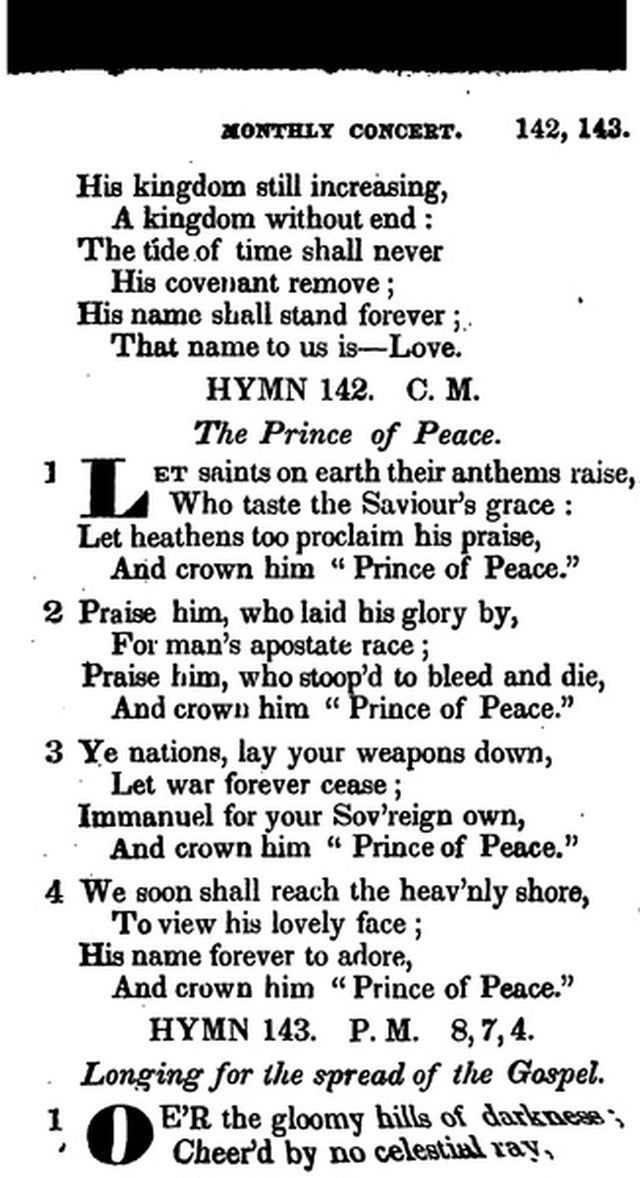 Additional Hymns, Adopted by the General Synod of the Reformed Dutch Church  in North America, at their Session June 1831. 2nd ed. page 118