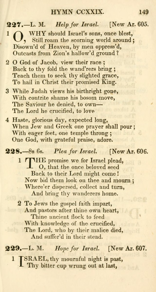 Additional Hymns, Adopted by the General Synod of the Reformed Protestant Dutch Church in North America, at their Session, June 1846, and authorized to be used in the churches under their care page 154