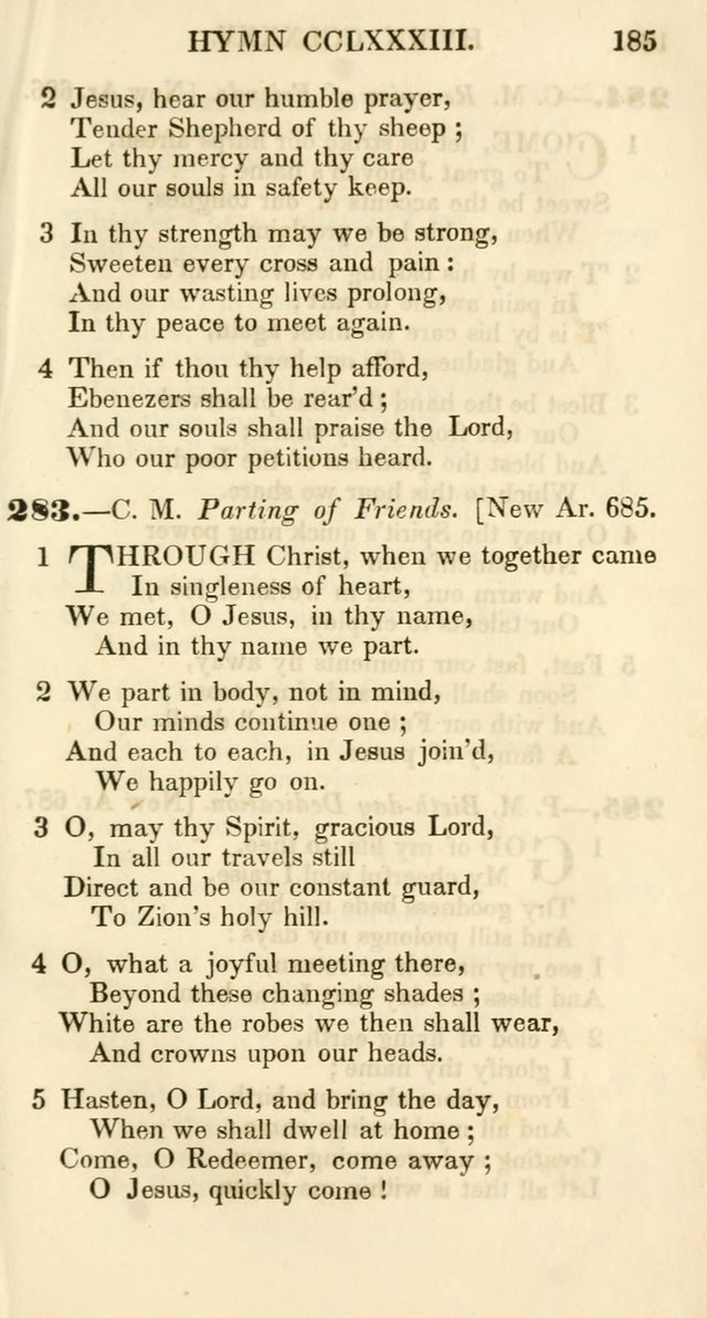 Additional Hymns, Adopted by the General Synod of the Reformed Protestant Dutch Church in North America, at their Session, June 1846, and authorized to be used in the churches under their care page 190