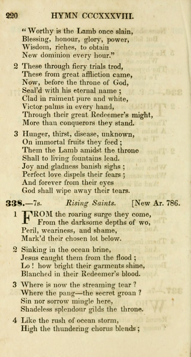 Additional Hymns, Adopted by the General Synod of the Reformed Protestant Dutch Church in North America, at their Session, June 1846, and authorized to be used in the churches under their care page 225