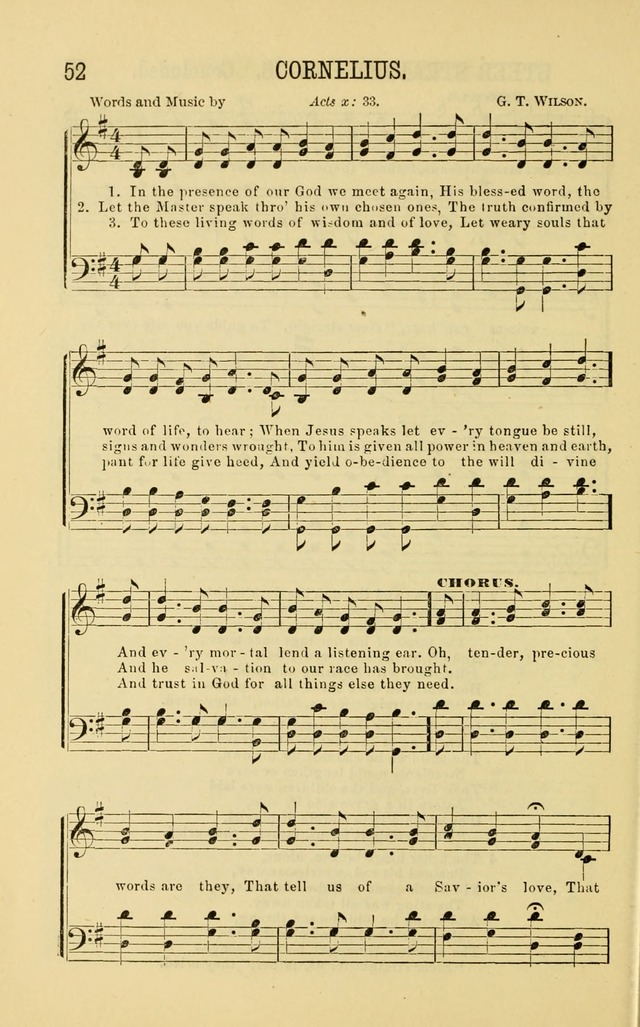 Apostolic Hymns and Songs: a collection of hymns and songs, both new and old, for the church, protracted meetings, and the Sunday school page 52
